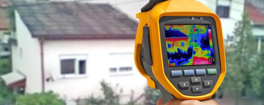 Wärmemessung bei einem Haus