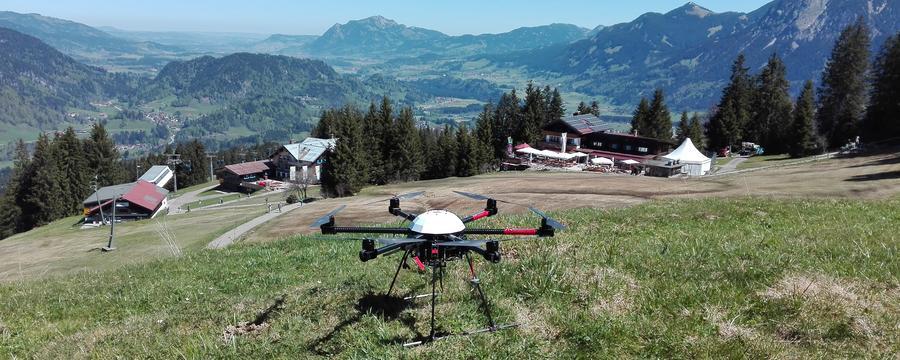 Drohne in den Gemeinden