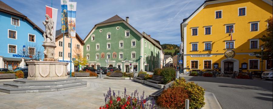 Der Hauptplatz von Tamsweg