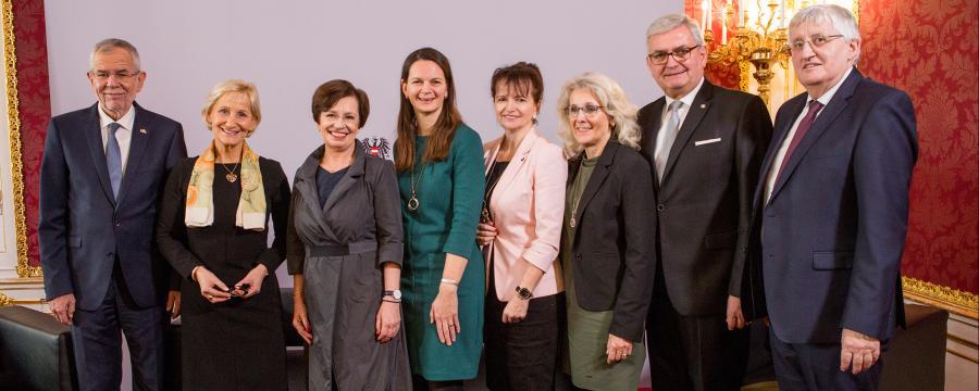 Bürgermeisterinnen beim Bundespräsidenten