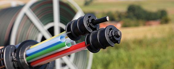 Symbolfoto zum Thema Breitbandausbau mit Breitbandkabel.