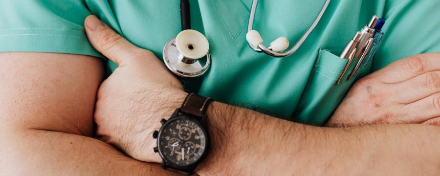 Blick auf einen Hausarzt