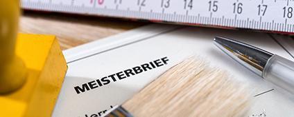 Meisterbrief auf Briefpapier