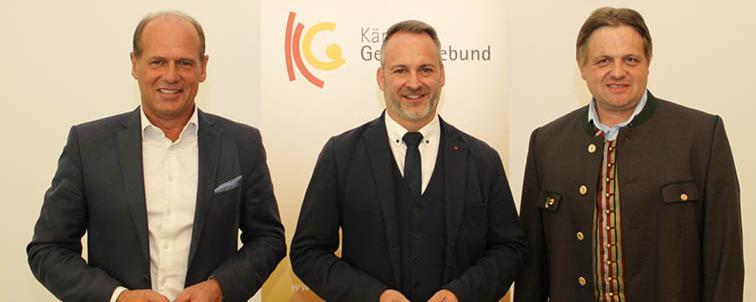 Christian Poglitsch (ÖVP), Günther Vallant (SPÖ) und Gerhard Altziebler (FPÖ)