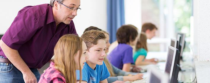 Schüler am Computer