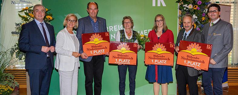 """Sieger des Blumenschmuckwettbewerbes """"Blühendes Niederösterreich"""""""
