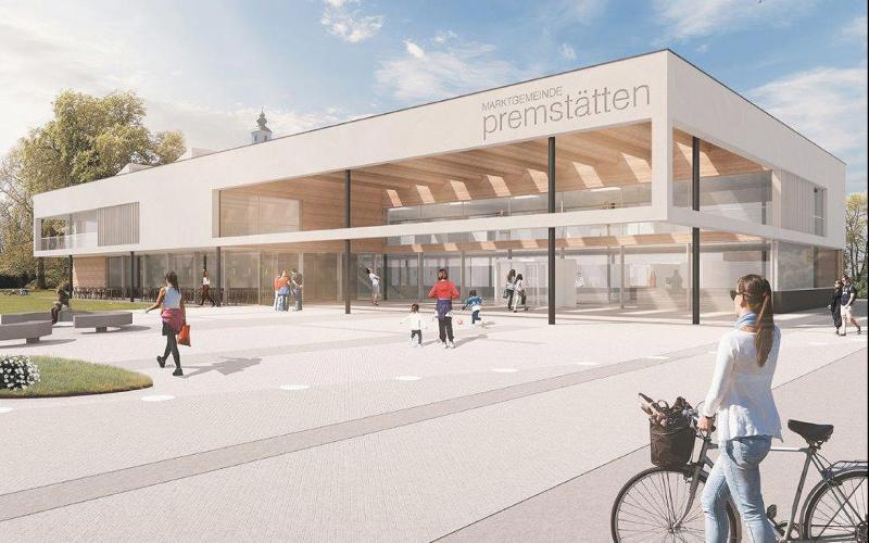 Entwurf des neuen Rathauses von Premstätten