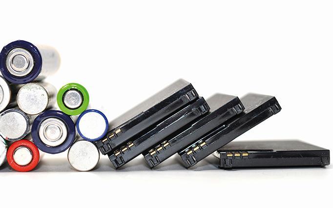 alte Batterien und Akkus