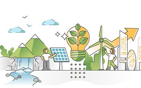 Zeichnung du Klima-Innovationen