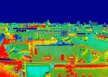 Thermographie einer Stadt