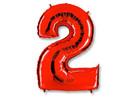 Воздушный шар Шар 40'' (106см)  цифра red