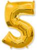 Воздушный шар Шар 40'' (106см)  цифра      золото
