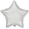 Воздушный шар 18''(45см) шар   звезда серебро