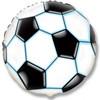 Воздушный шар Шар 18'' (45см)  круг     футбольный мяч черный