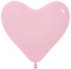 Воздушный шар 14''(36см) Сердце   Светло-розовый  пастель