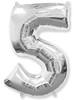 Воздушный шар Шар 40'' (106см)  цифра      серебро