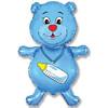 Воздушный шар 36''(91см) шар   фигура медвежонок-мальчик синий