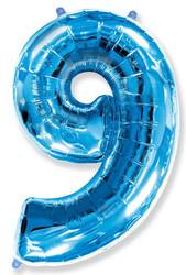 Шар 40'' (106см)  цифра      синий