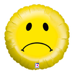 18''(45см) шар   круг смайлик грустный