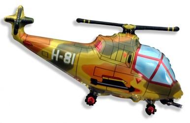 Шар 39'' (99см)  фигура     вертолет военный