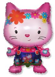 Шар 32'' (81см)  фигура     маленький дружелюбный котенок фуше