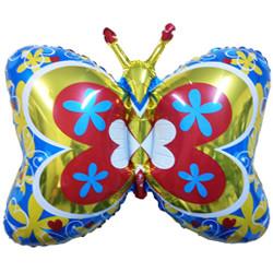 35''(88см) шар   фигура бабочка декор синий