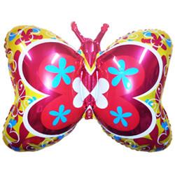 35''(88см) шар   фигура бабочка декор золото