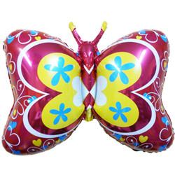 35''(88см) шар   фигура бабочка декор красный