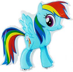 32''(81см) шар   фигура милая пони радуга