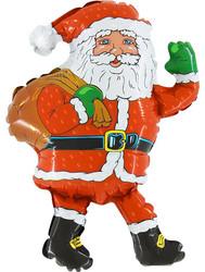 Шар 32'' (81см)  фигура     дед мороз с мешком красный