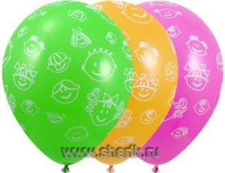 Шар 14'' (36см)  пастель пастель  детские улыбки