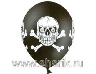 14''(36см) пастель  череп черн