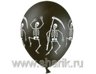 14''(36см) пастель  скелет черн