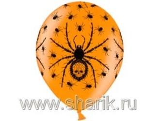 14''(36см) металлик  пауки оранж
