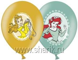 Шар 14'' (36см)  с рисунком  disney принцессы