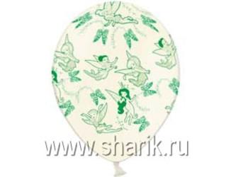 Шар 14'' (36см)  пастель пастель  disney феи