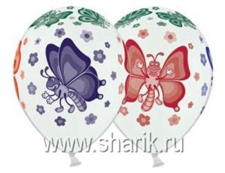 14''(36см) пастель  бабочки цв