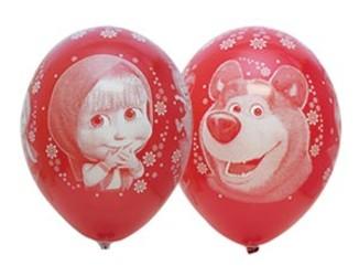 Шар 14'' (36см)  пастель пастель  маша и медведь