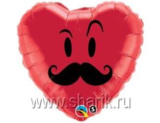 18''(45см)  сердце усы