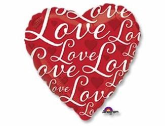 Шар 18'' (45см)  сердце  love  красное