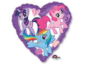 Шар 18'' (45см)  сердце  my little pony