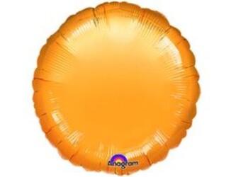 Шар 18'' (45см)  круг металлик gold