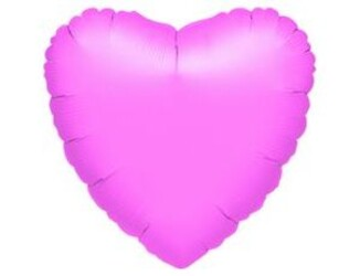 18''(45см) б рис сердце  металлик