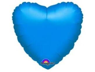18''(45см) б рис сердце  металлик blue