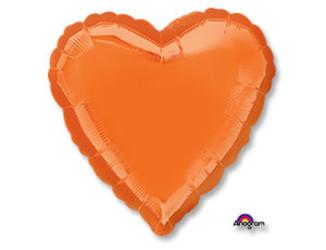 18''(45см) б рис сердце  металлик orange
