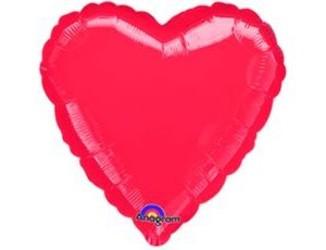 18''(45см) б рис сердце  металлик red