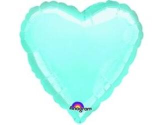 18''(45см) б рис сердце  пастель blue
