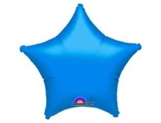 Шар 19'' (48см)  звезда металлик blue