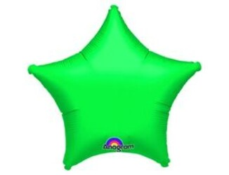 Шар 19'' (48см)  звезда металлик green
