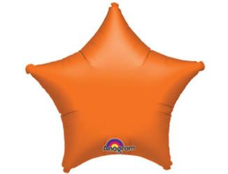 Шар 19'' (48см)  звезда металлик orange